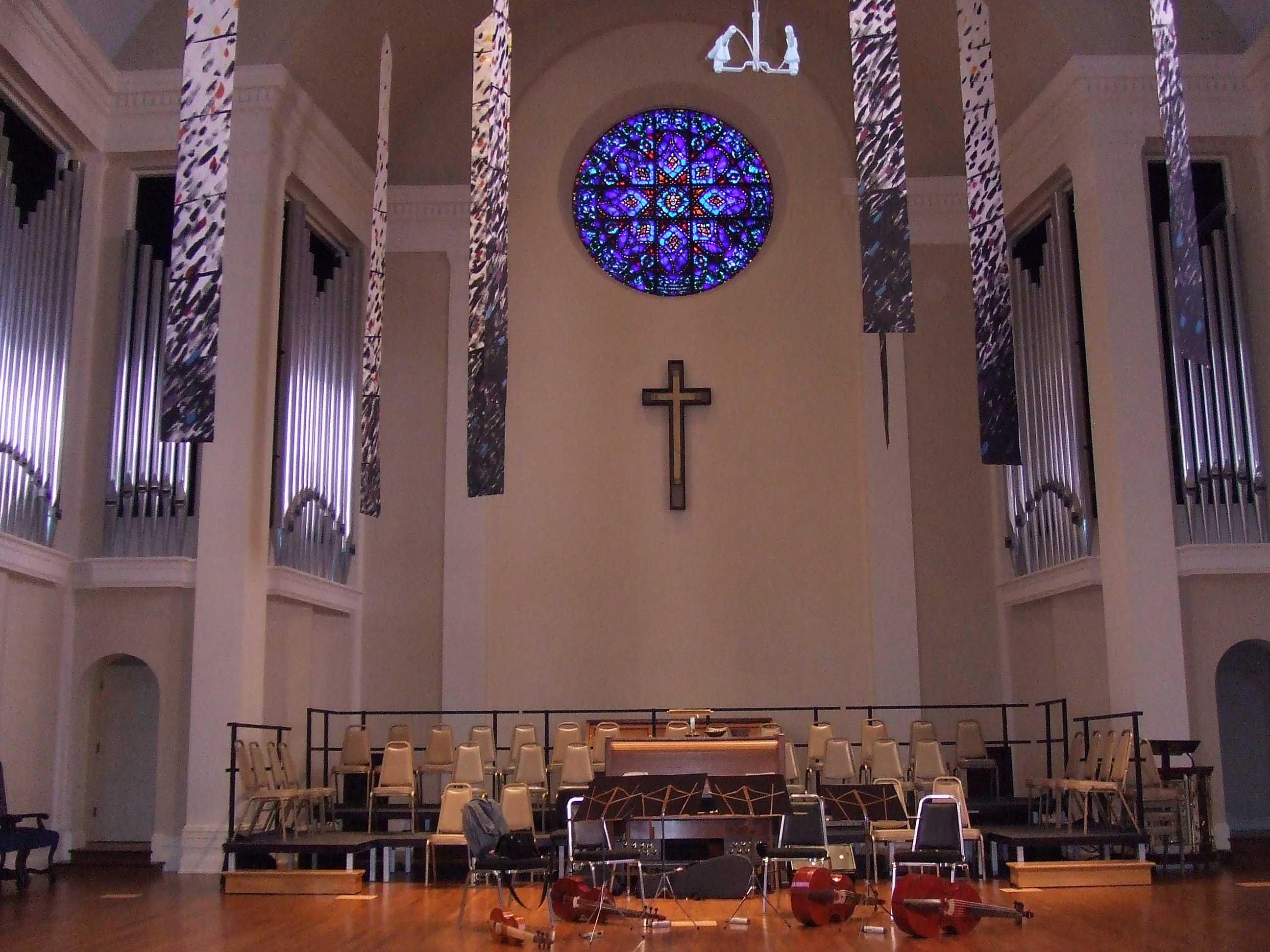 演奏会場となった第一会衆派教会
